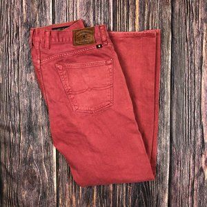 Lucky Brand 121 Heritage Slim 36 x 32 Red